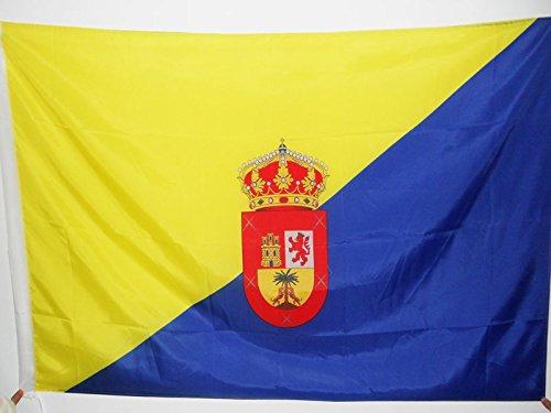 BANDERA de GRAN CANARIA 150x90cm para palo - BANDERA ISLAS CANARIAS - LAS PALMAS 90 x 150 cm - AZ FLAG