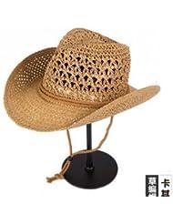 Chapeau Cowboy Panama Homme Paille Tisser Ranch ventilé