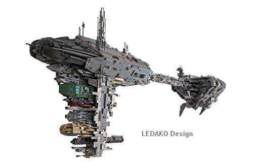 Preisvergleich Produktbild CUSTOM Bauanleitung UCS Nebulon B - Medical Frigate 'Redemption' aus LEGO® Steinen für STAR WARS™ Keine STEINE
