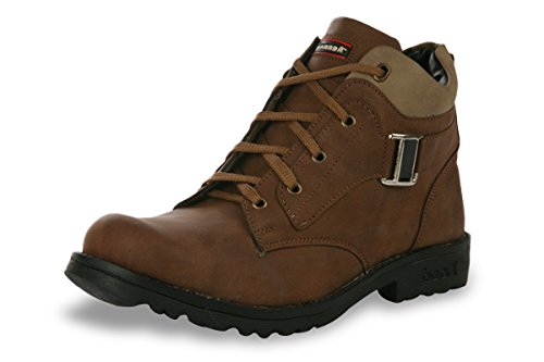 Shoe Island Male Coffee Brown Synthetic Casual Shoes -10 UK