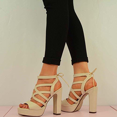 Cucu Fashion - Strap alla caviglia donna Beige (Nude)
