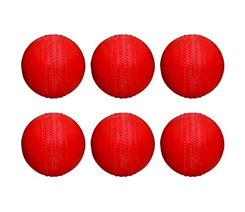 Ceela Sports Rubber Cricket Ball (Pack of 6) Red
