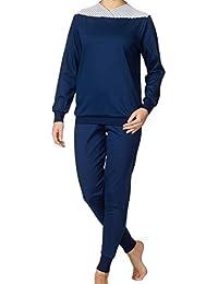Calida Damen Zweiteiliger Schlafanzug Bündchen Soft Cotton