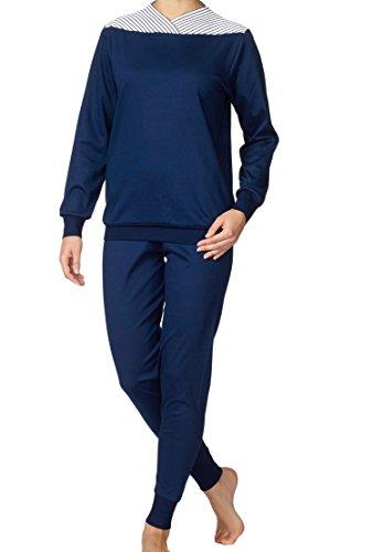 Calida - Ensemble de pyjama - Manches longues Femme Soft Blue