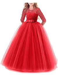 Amazon vestidos de fiesta rojos