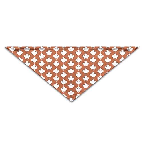 Hectwya Lovely Canada Maple Leaf Flag Emblem Mehrfarbige Haustierbandanas für Ihren Hund oder Ihre Katze klein bis mittelgroß -