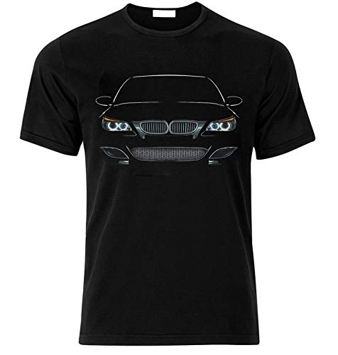 T-Shirt Inspiriert von E60 Fühle die Kraft Race Drift Speed Auto Fans T Shirt T-Shirt Weihnachts Xmas Gift (M, SCHWARZ)