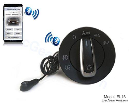 EL13 Auto lichtsensor Lichtschalter Scheinwerferschalter Hauptlichschalter Licht Schalter Nebelscheinwerfer, Coming Home Modul mit Bluetooth Android iOS App für A4 B6 B7 S4 Quattro (8E0941531A) (Lichtschalter Installieren Dimmer)