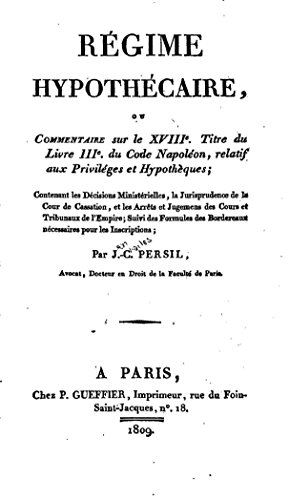 regime-hypothecaire-french-edition