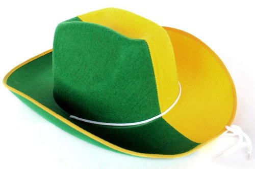Cowboyhut Fanartikel WM/EM Deutschland Brasilien Italien Frankreich (Brasilien) (4800070))