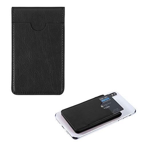 Mybat Lederetui mit Eingabestift, für Samsung HTC Motorola (universal, mit Kartenfächern) Schwarz Schutzhülle aus weichem Elastan, für die meisten Handys, Tablets, Gadgets mit Flacher Oberfläche -