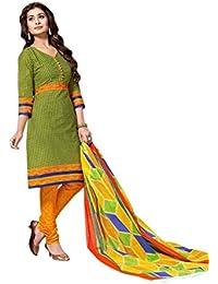 Balaji Cotton Chitra Women's Printed Dress Material, Unstitched, Multicolour