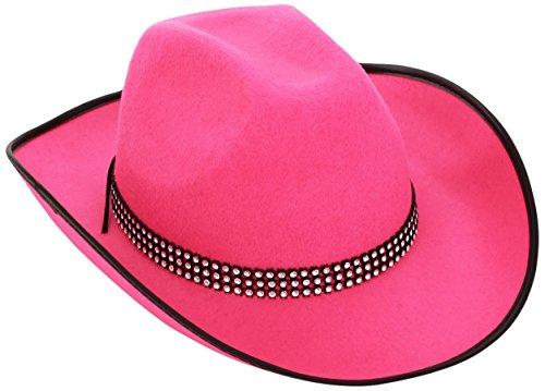 Vaquero de fieltro withStrass Band - rosa de vaquero del oeste salvajes Sombreros Gorras Y Sombreros para Disfraces accesorios
