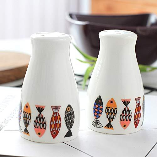 ETACH - Dispensadores especias salero cerámica pimentero