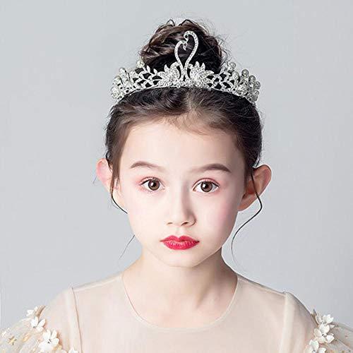 ZENWEN Kinderkronenkopfschmuck Swan Princess Kopfschmuck Crown Girl Crown (Swan Princess Kostüm)