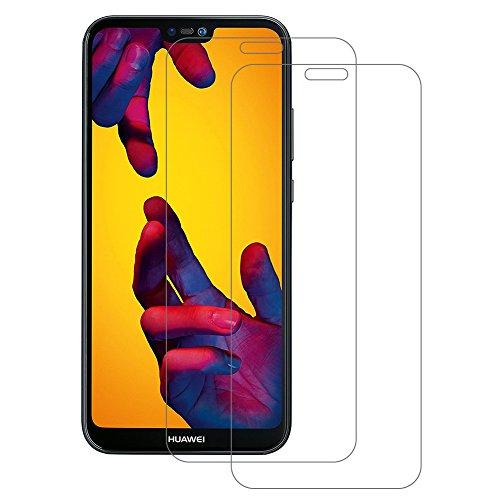 Schutzfolie für Huawei P20 Lite, [2 Stück] POOPHUNS Panzerglas für Huawei P20 Lite, 9H Härtegrad, Utra Klar Glatt, Bläschenfrei, Anti-Fingerabdruck, Panzerglasfolie für das Huawei P20 Lite