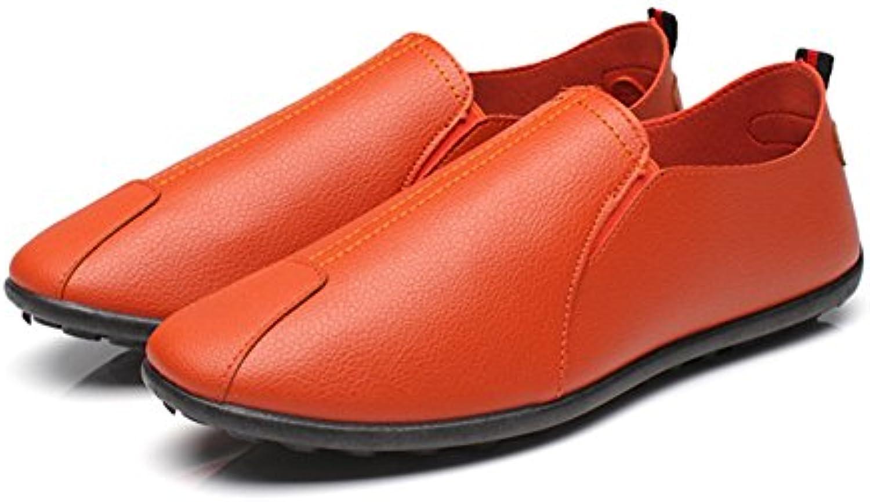 ugokarj 1 Paar Jugend Business Schuhe Herren Casual Flache Pu Leder Schuhe Ein Pedal Faul Atmungsaktive Schuhe