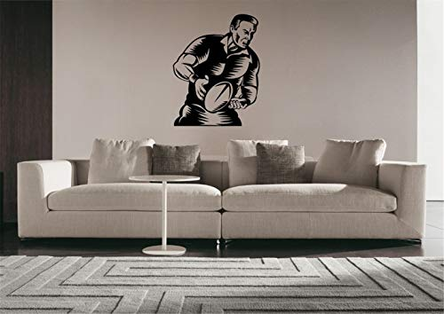 Wandtattoo Kinderzimmer Rugby Fußball Rugby League Footy Team Sport Aufkleber Wandkunst Dekor für Wohnzimmer Schlafzimmer -