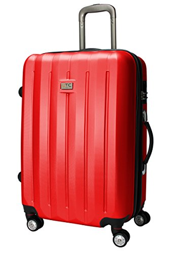 Exkl. Hartschalen Reisekoffer XL Reise Koffer Trolley Cabine Hard sided Case Travelcase Travel luggage suitcase (XL (75 cm/100 Liter), Rot)