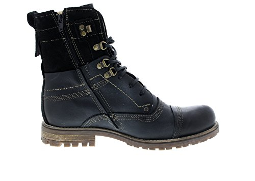 Herrenschuhe Black Boots B18022W Black Solution Cab Yellow qHnO5fO