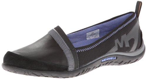 Merrell ,  Damen Durchgängies Plateau Sandalen mit Keilabsatz , schwarz - schwarz - Größe: 40 EU B (M)
