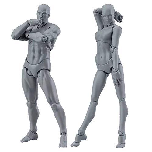 sunnymi Artists Figura de acción Modelo humano Maniquí Hombre Mujer Kits para dibujar, esbozar, pintar, artista, figuras de dibujos animados acción 13-15cm I