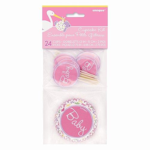Dusche Cupcake Fällen und Cupcake Toppers Kit für 24 (Baby-dusche-dekoration Mädchen)