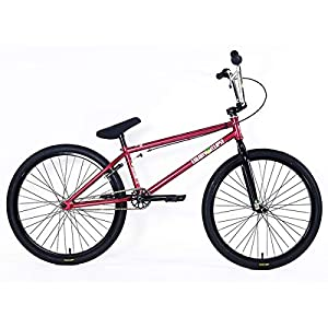 "41eeyQOWP6L. SS300  - Colony Bikes ""Eclipse 24 2018 BMX Cruiser Wheel - Metal Red 24 Inches Red 22"""