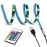 cuzile LED TV Hintergrundbeleuchtung Kit LED Band 100cm Für 40-60 Zoll TV,RGB 5050 LED Strip mit Fernbedienung Usb TV Beleuchtung