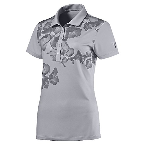 Puma Golf Womens Bloom Polo Shirt, M (Lightweight-jersey Puma)