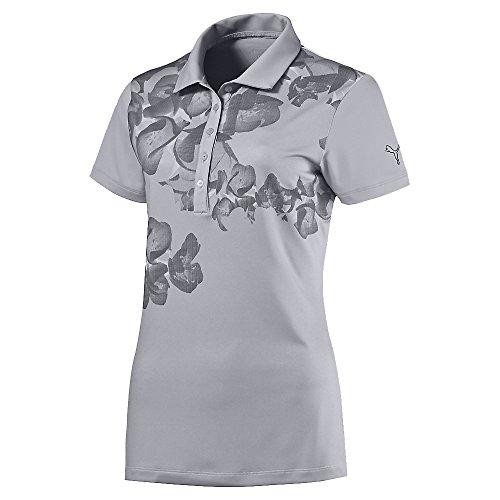 Puma Golf Womens Bloom Polo Shirt, M (Puma Lightweight-jersey)
