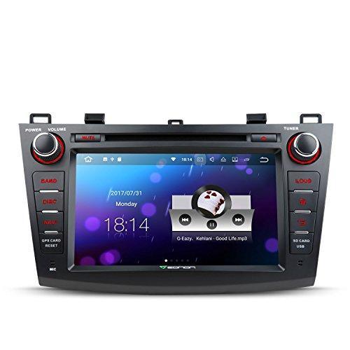 Eonon Autoradio Android 7.1 Mit Navi 8 Zoll GPS Navigation CD DVD Player für Mazda 3 2010 2011 2012 2013 Head Unit Touchscreen MULTI-Touchscreen Bluetooth Radio DAB RDS 4G WLAN - Cd-player Multi Radio