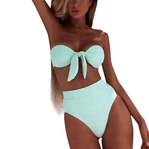 hmtitt Frauen Badeanzug, Sommer Bandeau Bandage Bikini Set Push-Up Badeanzug Brasilianische Badebekleidung Beachwear Badeanzüge -
