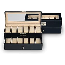 case for 12 watches / black