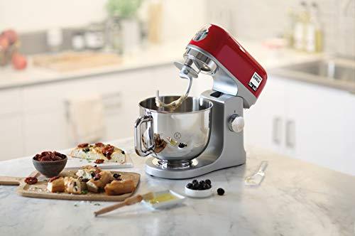 Kenwood kMix KMX750RD - Robot de cocina, 1000 W, Bol 5 L con Asa, Incluye: Gancho Amasar, Batidora Varillas, Batidora K, Color Rojo