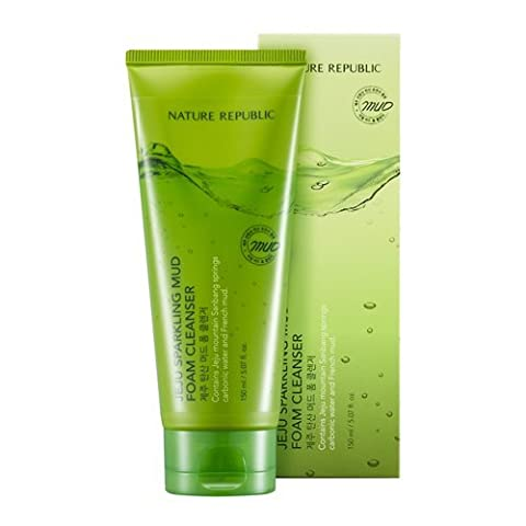 Nature Republic - Jeju Sparkling Mud Foam Cleanser for men and woman - Cleansing Gels & Foams - Cleansing Creams & Milks Body Lotions - Face