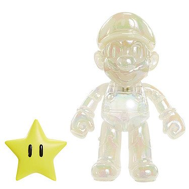 Preisvergleich Produktbild World of Nintendo – Star Power Mario – 10 cm Action Figur