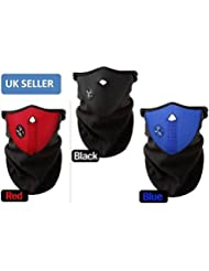 Gadgetpooluk Black Face Mask Neck Warm Ski Snowboard Bike Motorcycle Biking Mask