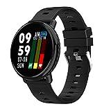 Reloj Deportivo para Hombre Mujer con Monitor de Ritmo cardíaco con Pantalla a Color Podómetro Contador Notificación Reloj Inteligente para Mujeres MNRIUOCII