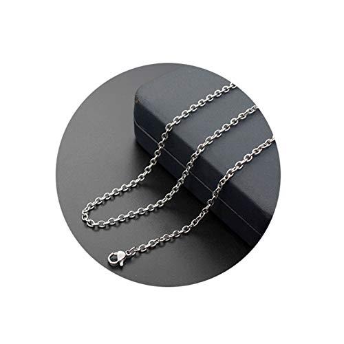 KnBoB Herren und DaHerren Kette Halskette Silber Rolo Kette Mode Zügel Kette Halskette Länge 40CM - 8 X 10-medallion