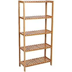 Estantería para organizar libros, zapatos. 5 alturas, 130 cm
