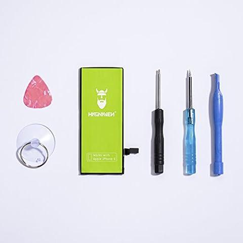 Hagnaven® Li-Ion Akku für iPhone 6 LEISTUNGSSTÄRKSTER Ersatzakku Premiumakku inklusive WERKZEUG 1910 mAh unbändige KRAFT UND PURE STÄRKE Hochwertigste QUALITÄTSZELLEN BESTE AKKULAUFZEIT SEHR BELIEBT Battery Batterie (DEUTSCHER FACHHANDEL) (Handy Akkulaufzeit)