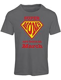c03f58db9640f lepni.me T-Shirt Femme Super Moms sont nés Le Mois de Mars