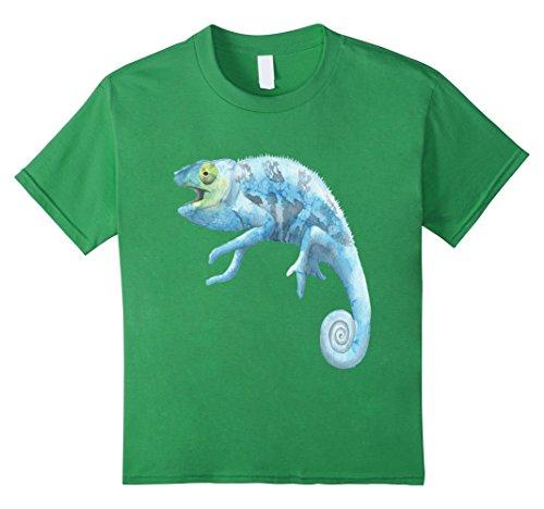 kids-blue-lizard-shirt-watercolor-art-chameleon-jungle-reptile-10-grass
