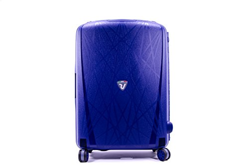 Roncato Light Trolley 4 Ruote Ultraleggero Made in Italy misura Medio Navy