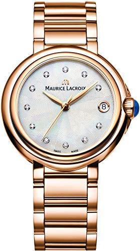 Maurice Lacroix Fiaba Round FA1004-PVP06-170-1 Orologio da polso donna con diamanti autentici