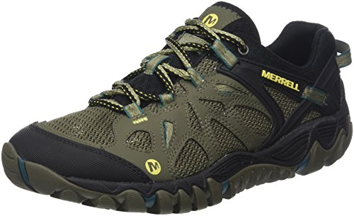 Merrell All Out Blaze Aero Sport Scarpe da arrampicata Uomo, Verde (Dusty Olive), 50 EU (14 UK)