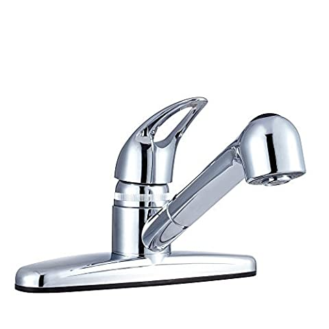 Dura Faucet (DF-PK100-CP) Non-Metallic Pull-Out RV Kitchen Faucet - Replacement