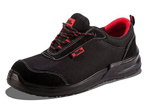 Black Hammer Chaussure de Sécurité Homme S1P SRC Baskets Embout Acier Respirant Chaussures de Chaussures de Travail et randonnée 4482 (45 EU)