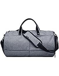 Mioy Moda Hombre Gran Capacidad Bolsa de Deportes totalizadores Travel  Duffle Vintage Bolsas de Viaje Impermeable f5b956257156a